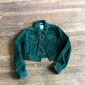 Old Navy crop corduroy jacket with details